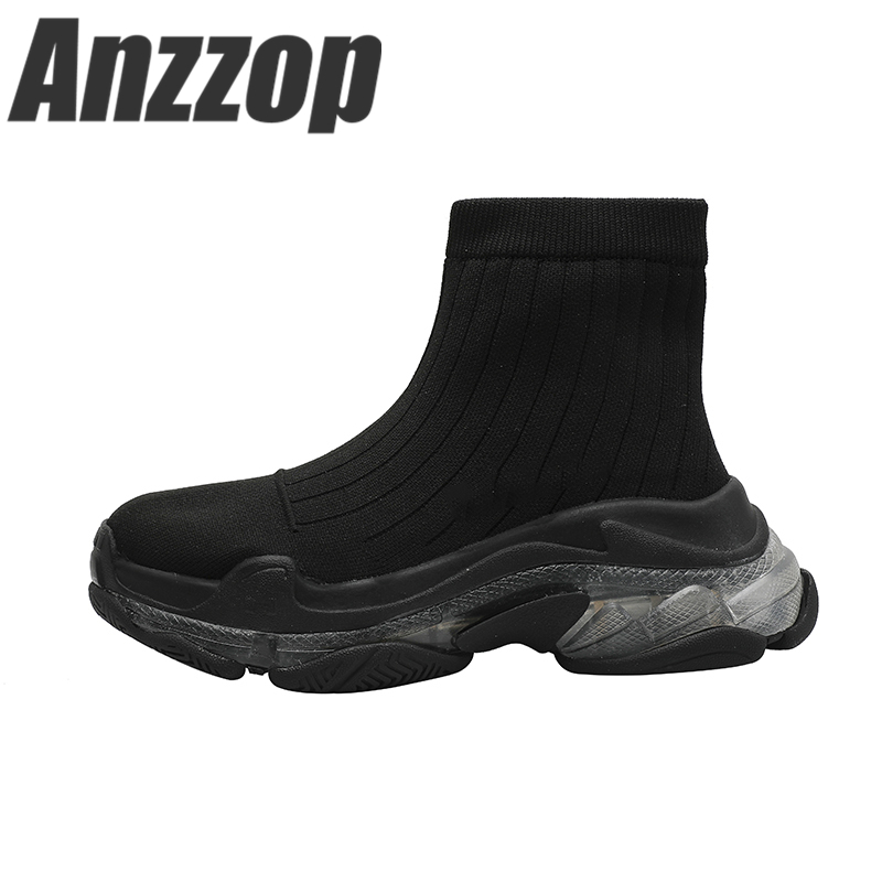 ANZZOP female elastic stockings shoes old shoes high-end design platform sports shoes female Korean version of the street tideANZZOP female elastic stockings shoes old shoes high-end design platform sports shoes female Korean version of the street tide