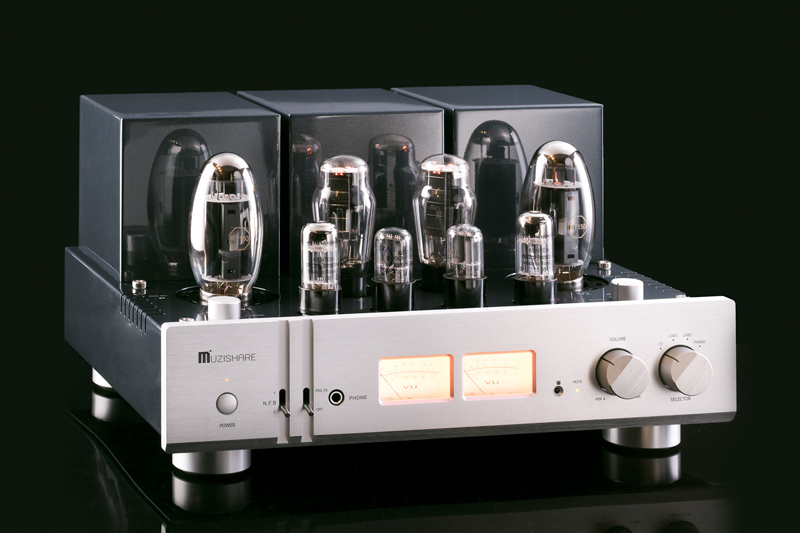 MUZISHARE X10 KT150 Tube Amplifier HIFI EXQUIS Dual Tube Rectifier Single-ended Lamp Amp with Phono Stage Pre-Amplification oldbuffalo 300b signal ended tube amplifier hifi exquis black aluminum chassis 4 way lamp amp
