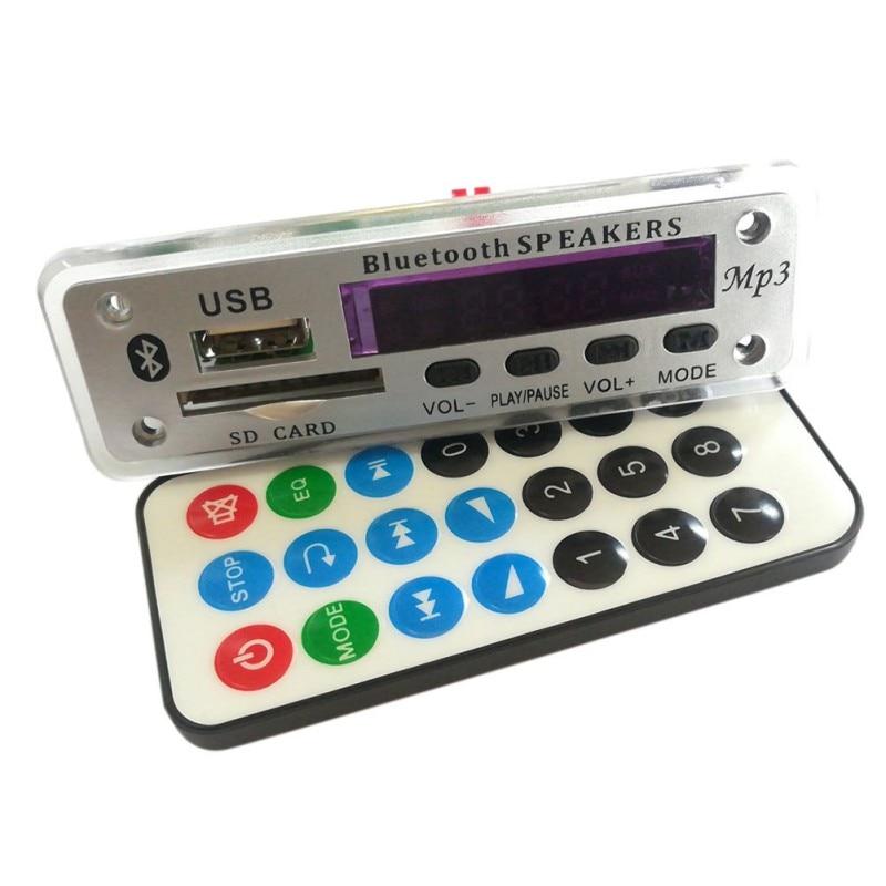 Bluetooth 12V MP3 WMA Decoder Board Audio Lossless APE Bluetooth 5.0 Module USB TF FM Radio Support Power-off Memory Playback