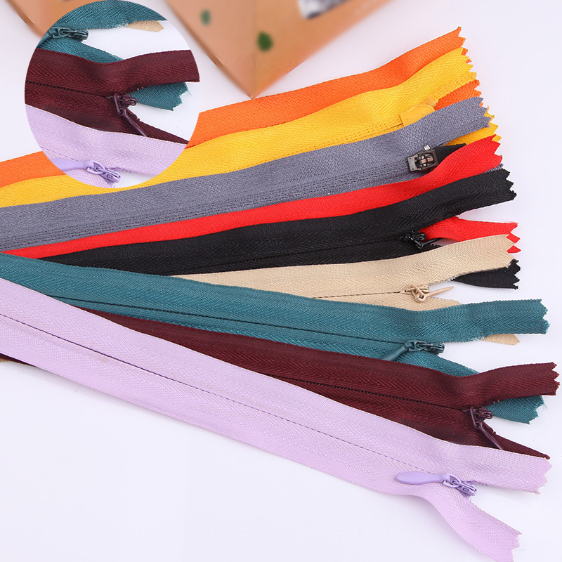 10pcs 3# 28cm Length Closed Nylon Coil Zippers Tailor Trousers Clothing Garment Sewing Handcraft DIY Accessories Various color