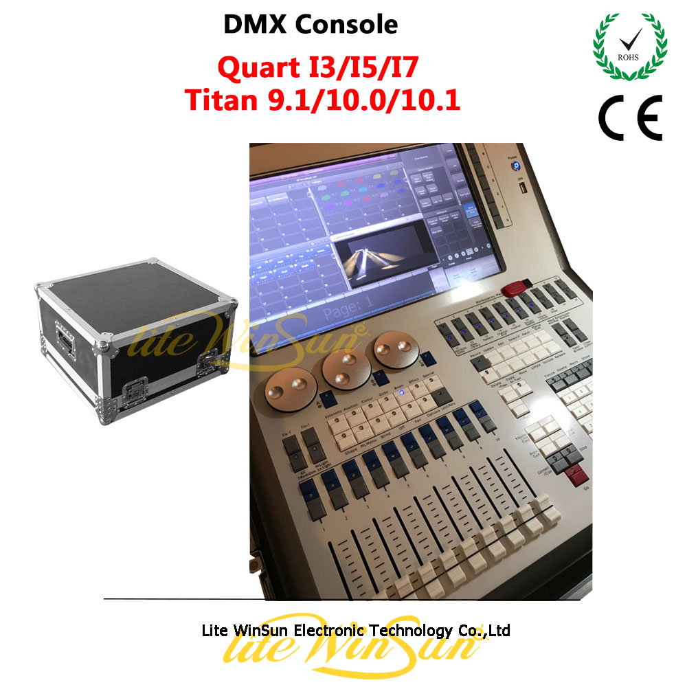 Litewinsune Tiger Quartz DMX Console I3 I5 I7 CPU Support Titan 9.0/10.0/10.1 with Free Flight Case