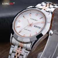 LONGBO Top Fashion Brand Luxury Women Watches Business Casual Auto Date Quartz Wristwatch Waterproof Lady Watch
