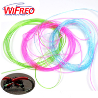Clear Stretch Rib Larvae Lace Nymph Ribbing Material Body Fly Tying Line New Green Red Brown