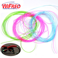 Wifreo Clear Stretch Rib Round Larvae Lace Nymph Ribbing Material Body Fly Tying Line New Green Red Brown Pink Multiple Color