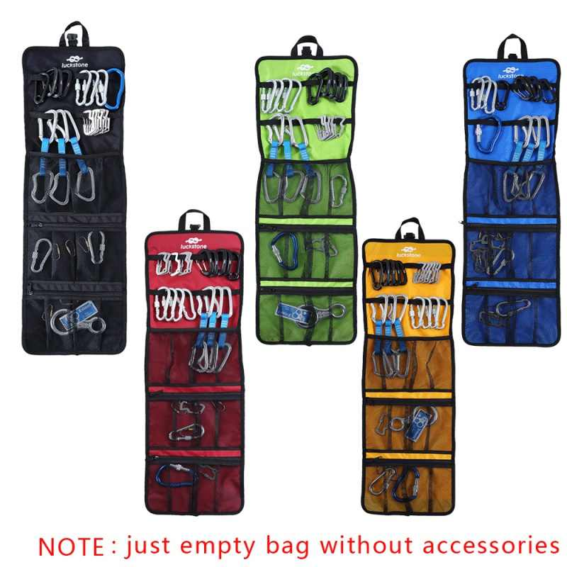 Roll Up Folding Waterproof Quickdraw Sling Carabiner Carry Bag for Climbing