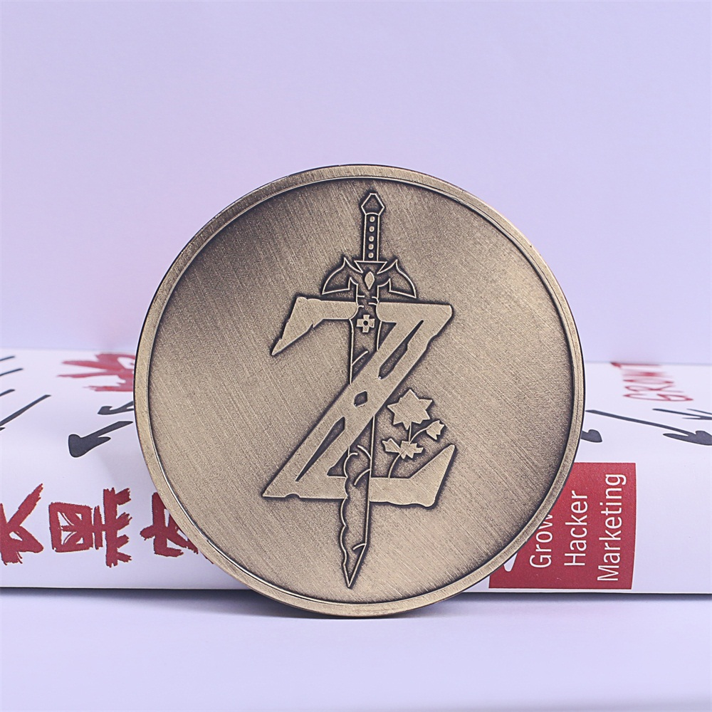 Hot Game Legend of Zelda Cosplay Breath of the Wild Special Collectible Coin Handmade Game Coin