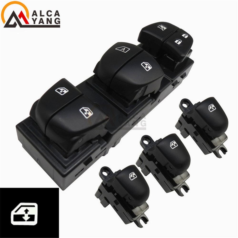 Image 4 - 1 Set/4PCS Red / White / Ice Blue Light For Nissan Qashqai/Altima/Sylphy/Tiida/X Trail Power Window Switch/Single Window switch-in Car Switches & Relays from Automobiles & Motorcycles