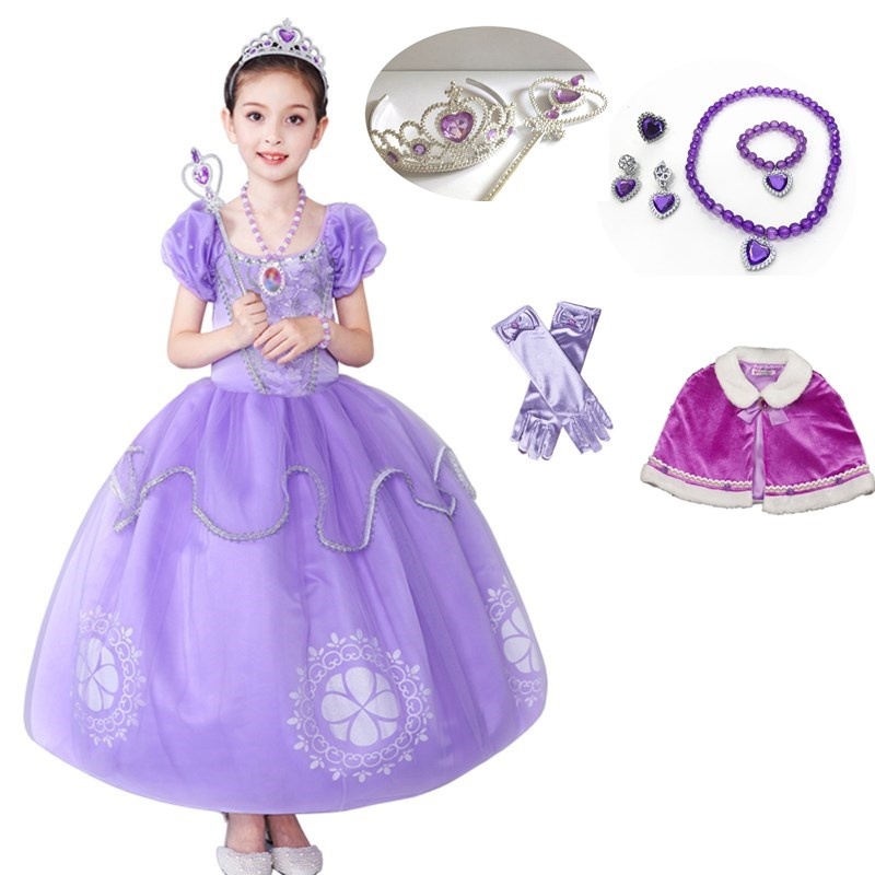 Sofia Princess Dress Kids Cosplay Costumes Girls New Arrival: Girl Sofia The First Princess Dress Up Girl Halloween