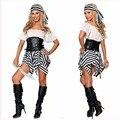 Пиратские Костюмы для Хэллоуина, 2017 Карибский Испанский Пиратский Костюм Женщины Необычные Платья Косплей для Женщин Женский Фантазии Платье Косплей