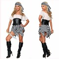 Pirate Halloween Costumes,2017 Caribbean Spanish Pirate Costume Woman Fancy Dress Cosplay for Women Female Fancy Dress Cosplay
