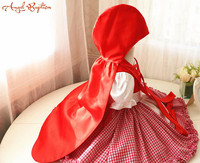 Little Red Riding Hood Halloween Costume Dress and Cape christmas Halloween Dress Toddler Baby Girl Dress for Birthday Party