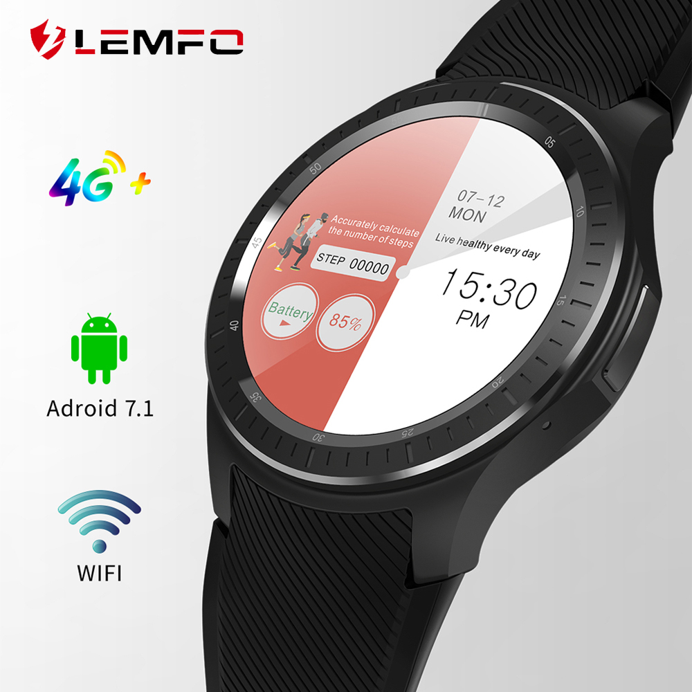 LEMFO LF25 Android 7 1 Smartwatch 1GB 16GB Dual 4G 1 3 IPS WIFI GPS Weather