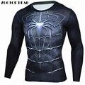 Человек-паук Футболки Мужчины 3D Печатные Футболки Сжатия Фитнес Camisetas 2017 Blck С Длинным Рукавом Осень Супермен ZOOTOP МЕДВЕДЬ