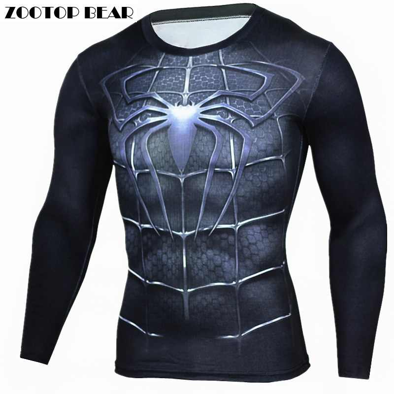 Detail Feedback Questions about Spiderman T Shirts Men 3D Printed T shirts  Compression Fitness Camisetas 2017 Black Long Sleeve Tops Autumn Superman  ZOOTOP ... a7ab17993aef9