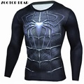 Spiderman T Shirts Men 3D Printed T-shirts Compression Fitness Camisetas 2017 Blck Long Sleeve Tops Autumn Superman ZOOTOP BEAR