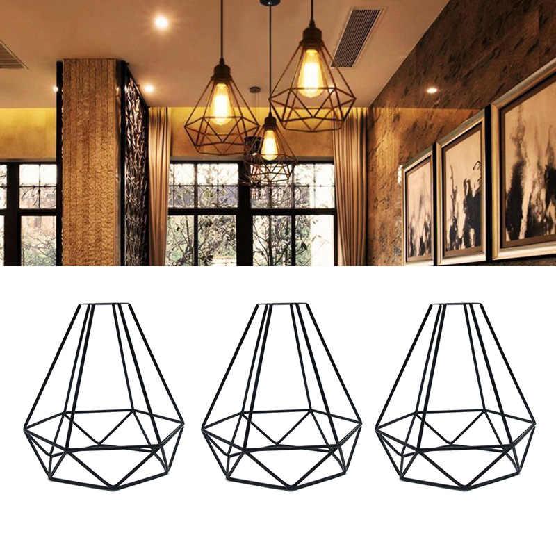 Геометрический подвесной металлический светильник в стиле ретро, винтажный подвесной светильник, абажур, железная клетка CLH @ 8