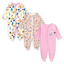 Детская одежда для мальчиков сна с длинным рукавом милый мультяшный