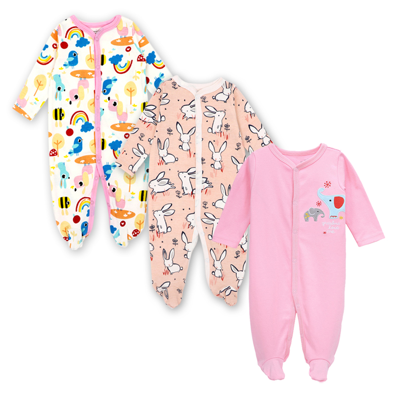 Baby Overall Boys Onesie Long Sleeve Romper Jumpsuit Cartoon Outfits 0-12 Months