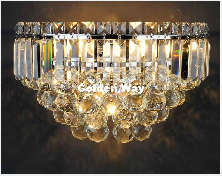 Бесплатная доставка Современные хрустальные Дизайн настенный светильник K9 Кристалл Настенные светильники Спальня изголовье ночники бра с...