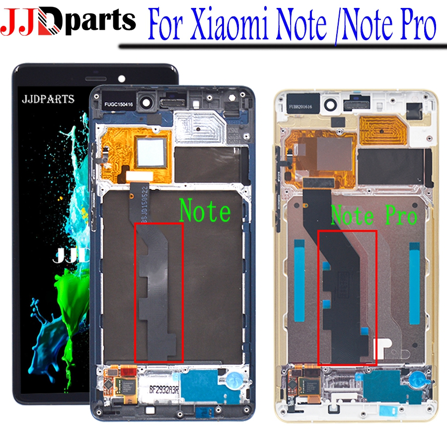 """Original For 5.7""""LCD Xiaomi Mi Note Display With Frame LCD Display Screen+Touch Digitizer Assembly Xiaomi Mi Note Pro LCD Replac"""