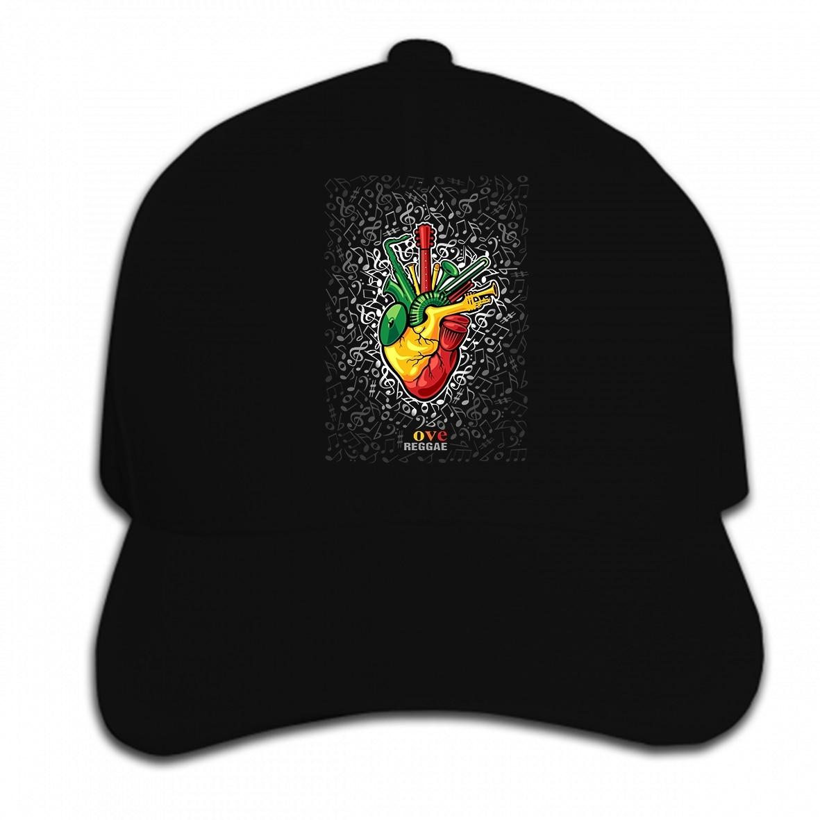 69c1132429d77 Print Custom Baseball Cap I love Reggae music Rasta Jamaica Hat Peaked cap