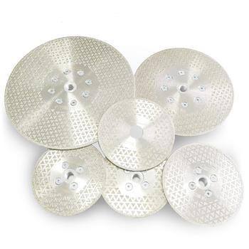 SHDIATOOL 1 pc Elettrolitico del diamante taglio disco di macinazione Entrambi I Lati rivestito di diamanti lama di granito di marmo di Taglio Ruota