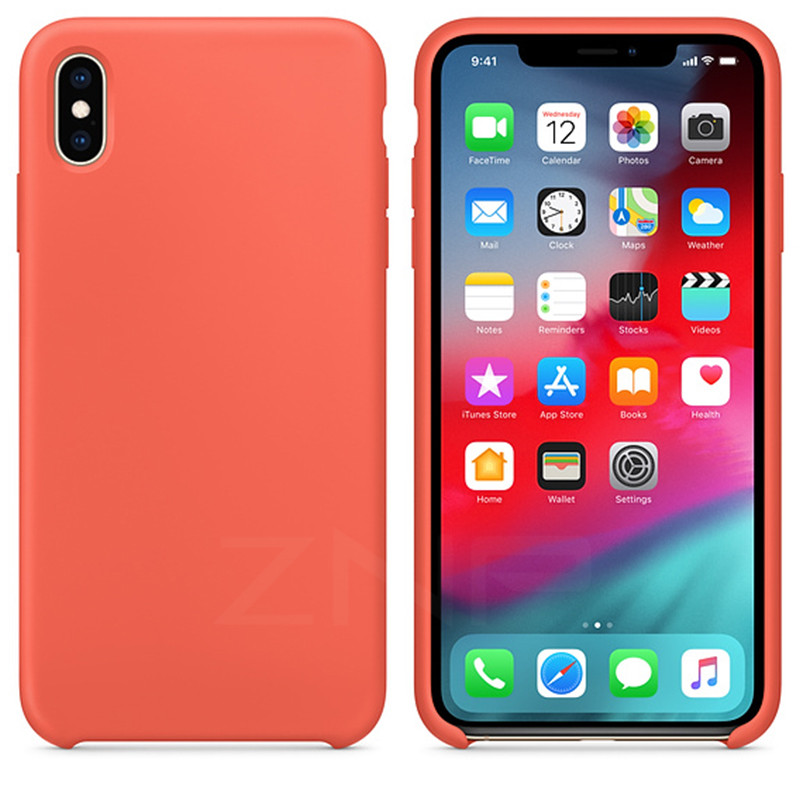 ZNP <font><b>Original</b></font> Soft Silicone Phone <font><b>Case</b></font> For <font><b>iPhone</b></font> 6 <font><b>6s</b></font> 7 8 Plus X XS max XR Cover <font><b>Case</b></font> For Apple <font><b>iPhone</b></font> X XS Max XR Shell Capa image