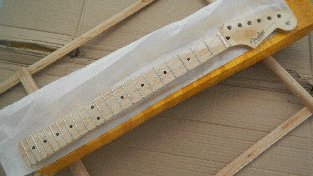 Expédition rapide nouveau stratocaster guitare électrique st cou 22 Frette érable-doigt vernis après la ceinture guitare cou