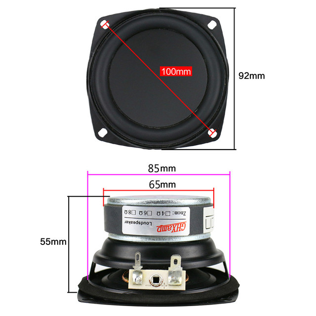3.5 Inch Woofer Bass Speaker Unit 8Ohm 20W 6
