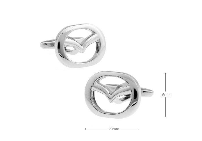Mazda logo cufflinks
