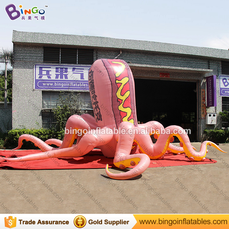 High quality 8 meters giant inflatable octopus customized hot dog type blow up octopus for display inflatable toys hot manufacturering 7x6x5m customized pvc giant inflatable water slide for sale