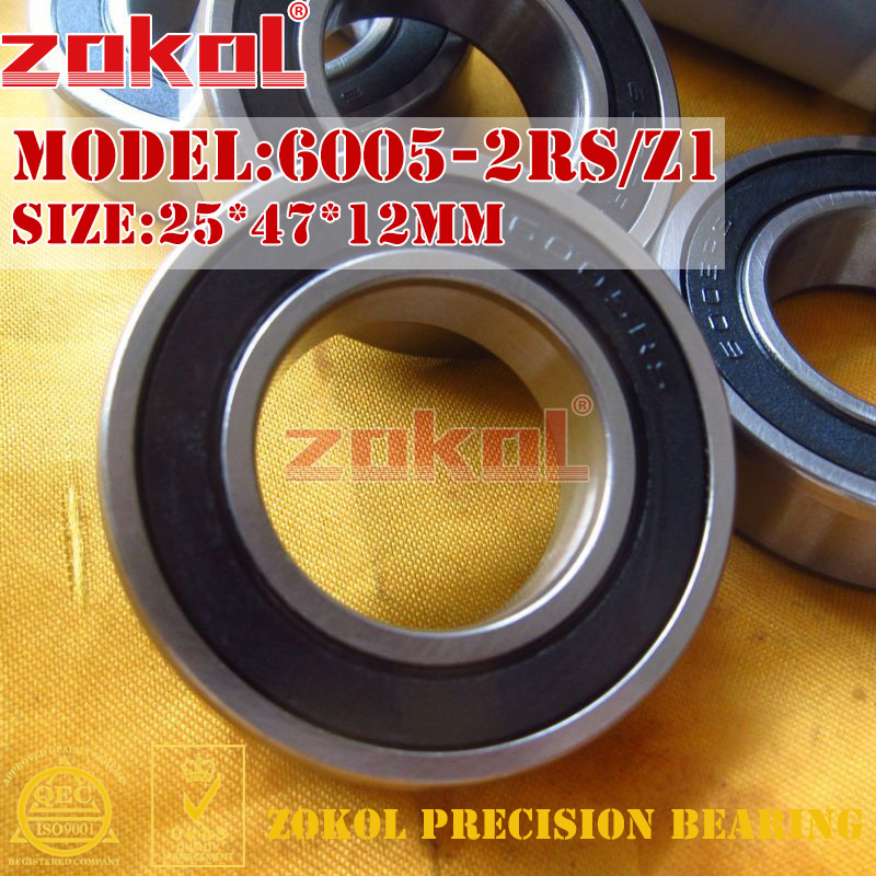 ZOKOL 6005RS bearing 6005 2RS RS Z1 180105 Z1 Deep Groove ball bearing 25*47*12mm 2pcs 6005 2rs 6005rs 6005rs 6005 rs deep groove ball bearings 25 x 47 x 12mm free shipping high quality