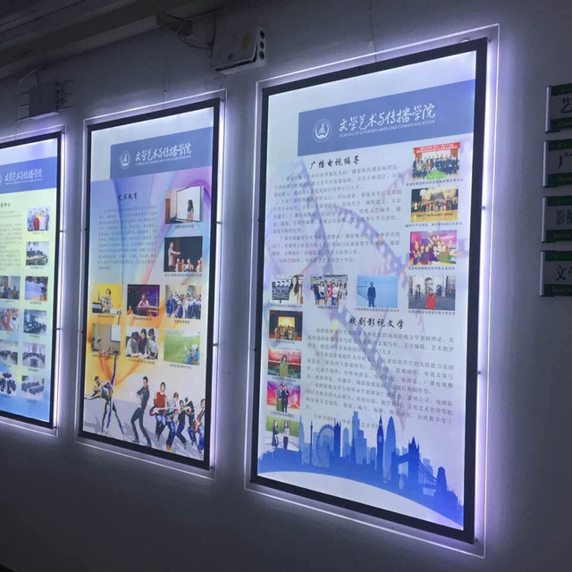 "24""x36"" Wall Mounted LED Acrylic Poster Frame Display ..."