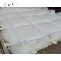 JaneYU Winter Cotton Down filler quilted Quilt king queen twin full size Comforter/Blanket/Duvet white/pink color 100% Cotton