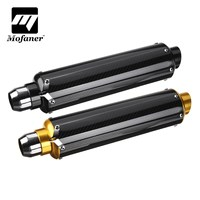 51mm Slip On Carbon Fiber Motorcycle Exhaust Muffler Universal For 125CC 1200CC Street/Sport/Racing motorcycles and Scooters