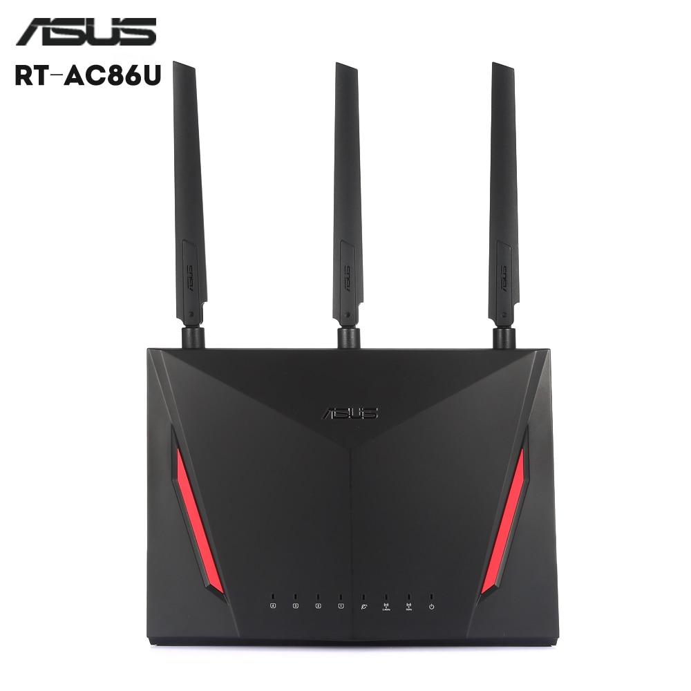Ordinateur portable d'origine ASUS RT-AC86U Routeur Dual Core 2.4 GHz 5 GHz WiFi AC 1000 Mbps LAN pour Support De Jeu USB