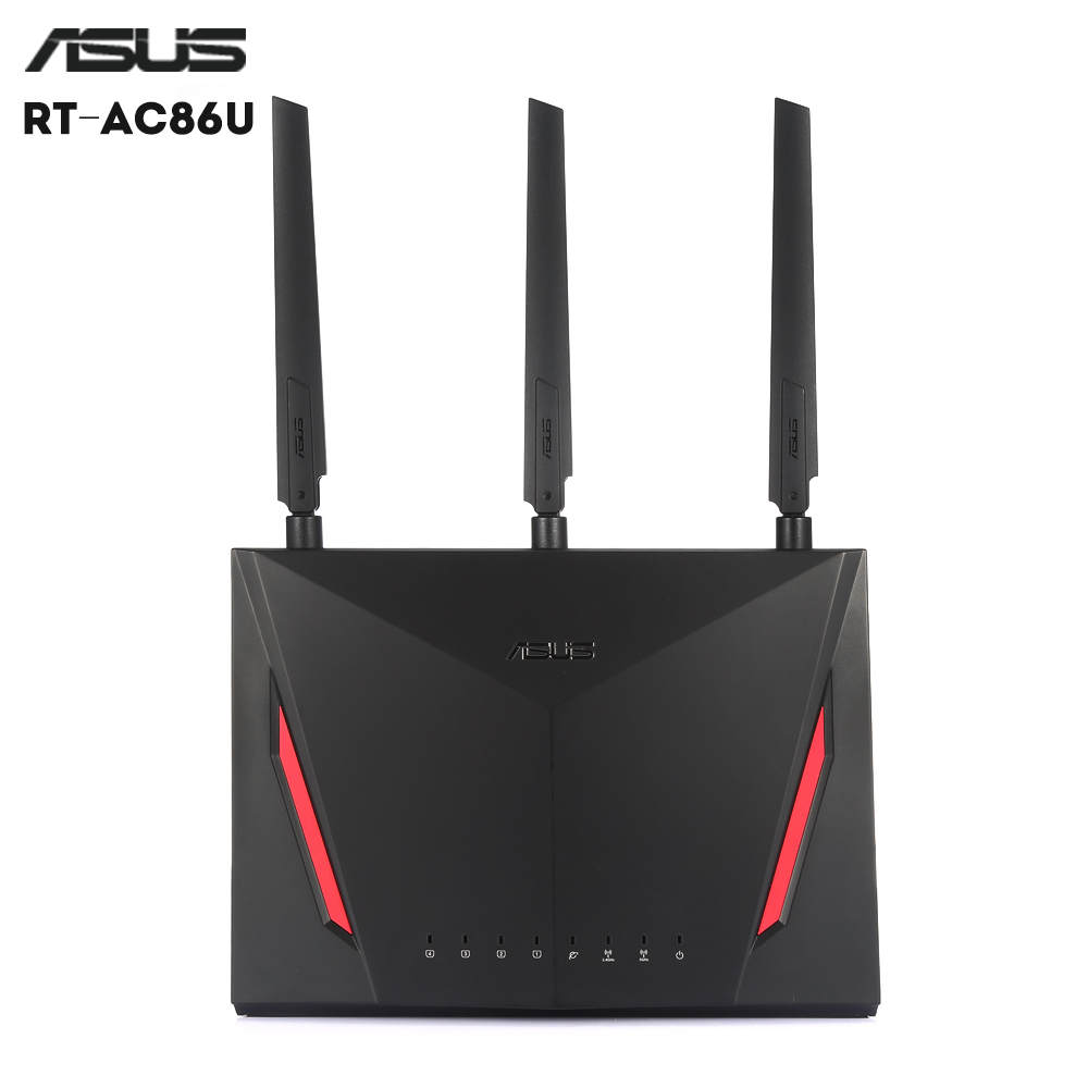Original ASUS RT - AC86U Router Dual Core 2.4GHz 5GHz AC WiFi 1000Mbps LAN For Gaming Support USB