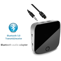 Bluetooth Transmitter 5.0 Audio Bluetooth Receiver CSR8670 Aptx Low Latency Adapter Optical Fiber / 3.5mm AUX / SPDIF for Car TV