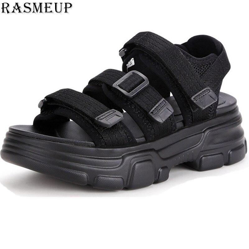 RASMEUP Gladiateur Plate-Forme Des Femmes Sandales 2019 De Mode D'été Sandale De Plage décontracté Confortable Femme Blanc Chaussures chaussures de femme