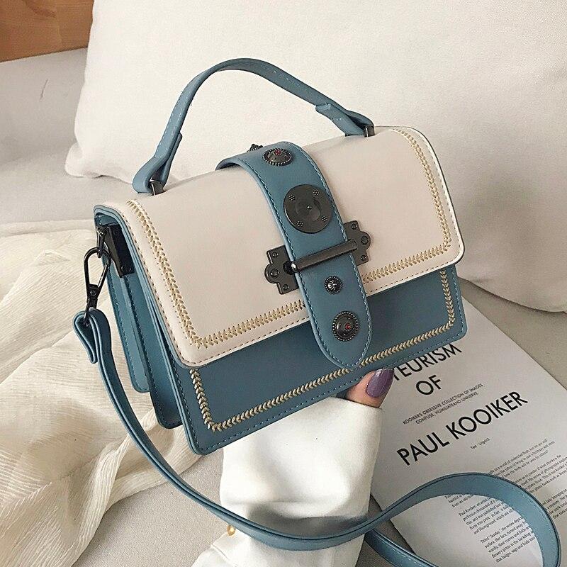 Elegant Female Casual Tote Bag 2020 Fashion New High Quality PU Leather Women's Designer Handbag Rivet Shoulder Messenger Bag
