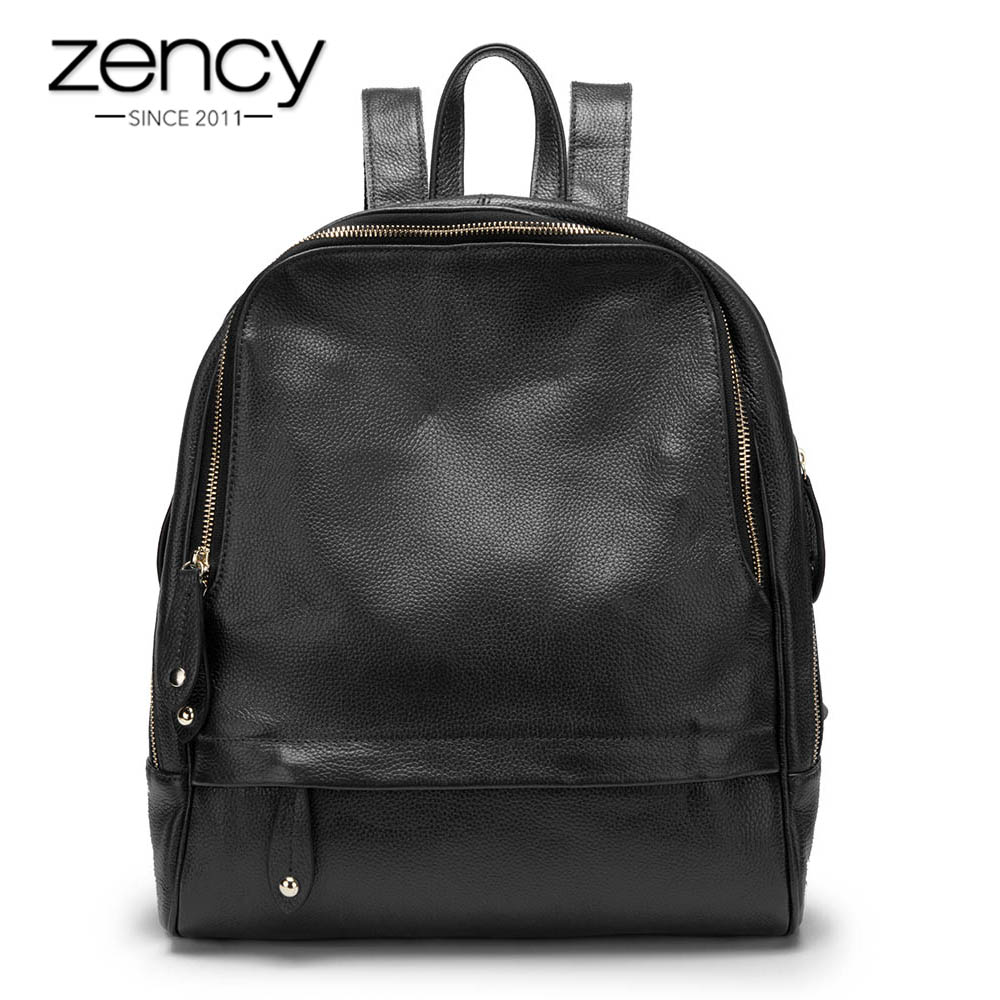 New Sale Women Backpack 100% Genuine Leather Fashion Female Travel Bags Practical Schoolbags For Girls Large Capacity Notebook цена