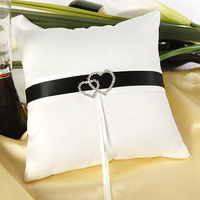 Ivory Heart Satin Wedding Ring Pillow Bridal Accessories Favor YY30