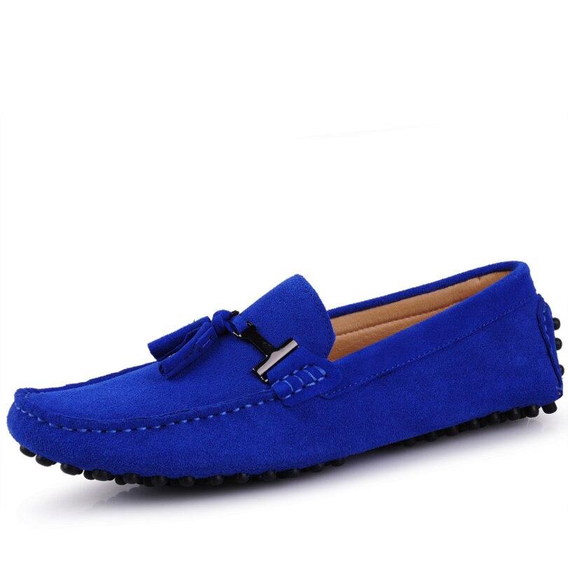 US6 11 Big Size 45 Koe Suède Mens Slip Loafers Casual Rijden Auto Mocassin Bootschoenen Kwastje Loafer-in Casual schoenen voor Mannen van Schoenen op  Groep 2