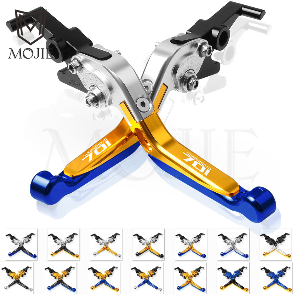For Husqvarna 701 Supermoto 2017-2018 Motorcycles CNC Adjustable Folding Extendable Motor Brake Clutch Levers Set