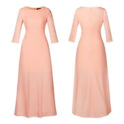 2018 Summer Sexy Elegant Women Half Sleeve Slim Empire O-neck Vestido Evening Formal Party Prom Long Maxi Dress Plus Size S-2XL 6