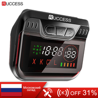 New Ruccess Police Radar Detector for Russia GPS Speed Laser band Car Detector 2 in 1 GPS Anti Radar for Car Auto 360 X LA CT L