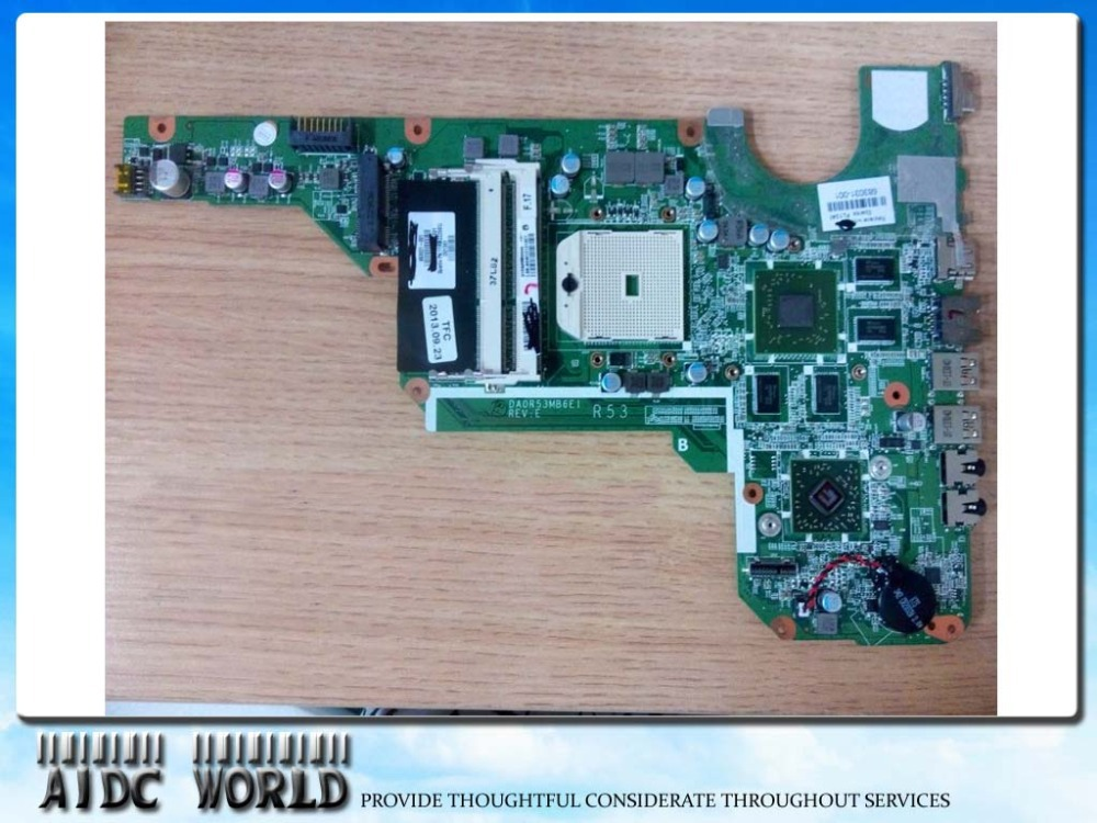 все цены на For HP Pavilion G6-2052XX G6-2313AX 683031-001 A70M 7670/2G motherboard mainboard 100% tested okay,90days warranty! онлайн