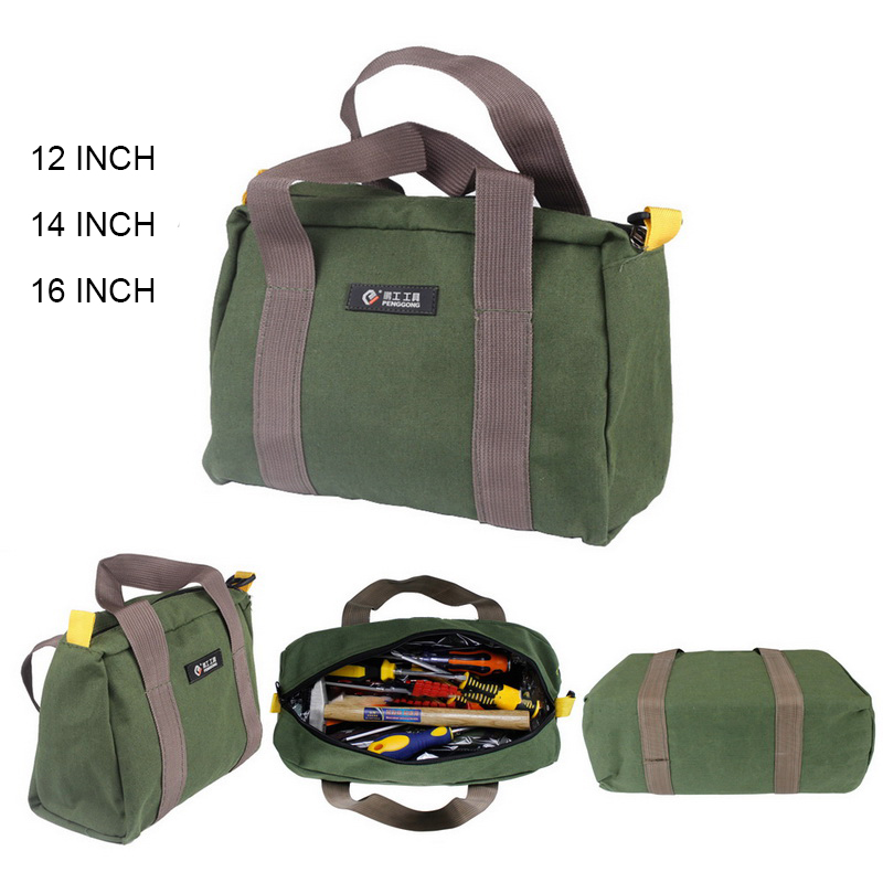 Multifunction Canvas Waterproof Tool Bags 12/14/16inch Storage Carry Bags Portable Hardware Toolkit For Electrician Household