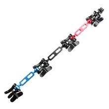 F15298 Lightweight Aluminum Alloy Butterfly Clip Joint Clamp Tripod Mount Set for Camera Gopro Hero4 Diving Lights Arm Ball +FS