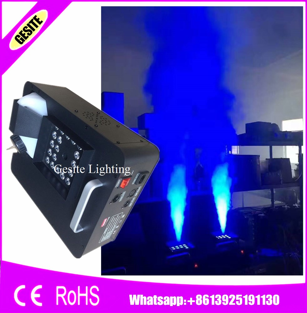 2PCS/LOT 24pcs*3W RGB Fog Machine 1500W DMX Led Effect Fogger Vertical Smoke Machine for Halloween decoratio